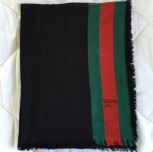 Unisex Guccissima woven scarf with signature color